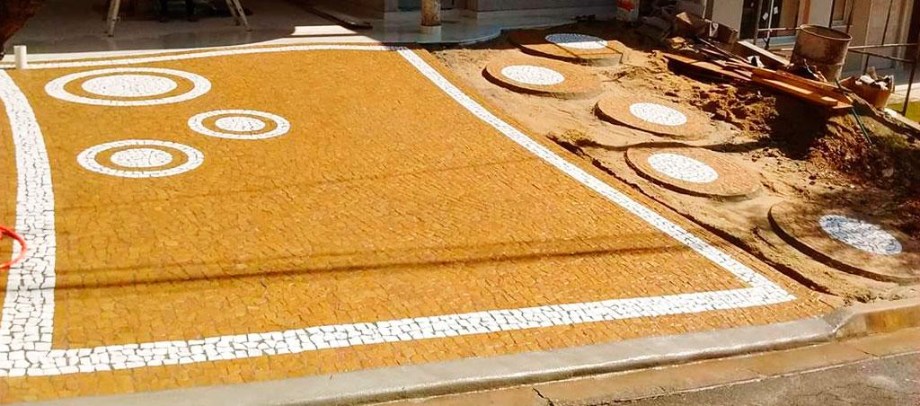 Mosaico Português em Calçada